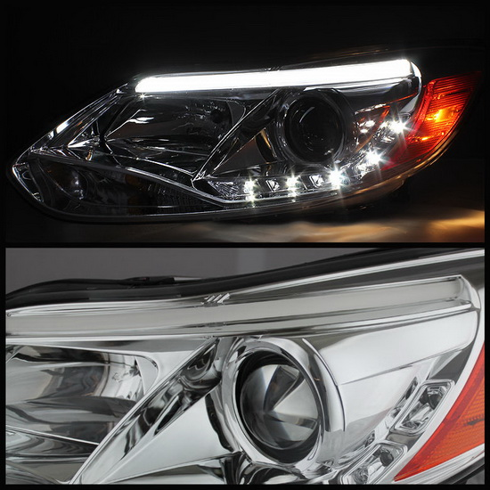 2012-2013 Ford Focus Chrome Housing Projector Headlights with LED DRL