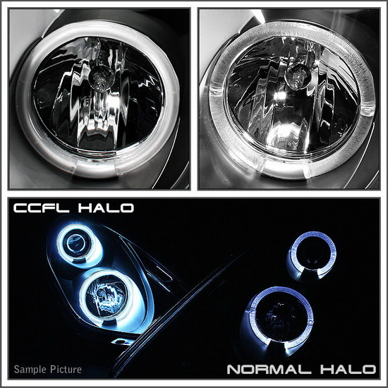 1997-2003 Ford F150 Expedition Chrome Housing CCFL Halo Angel Eyes LED 1PC Projector Headlights