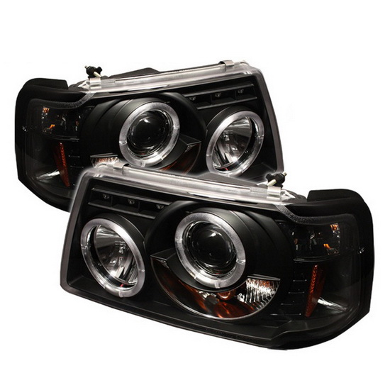 2001-2011 Ford Ranger Black Housing LED Halo Angel Eyes LED 1PC Projector Headlights