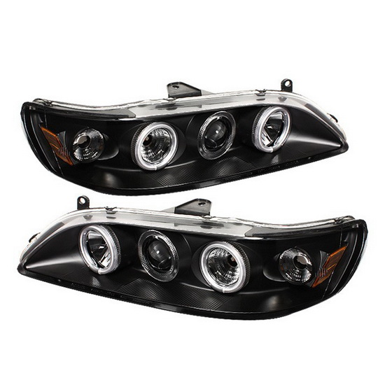 1998-2002 Honda Accord Black Housing CCFL Halo Angel Eyes 1PC Projector Headlights