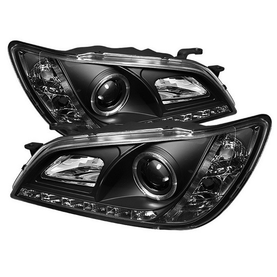 2001-2005 Lexus IS300 Black Housing LED Halo Angel Eyes Projector Headlights with LED DRL
