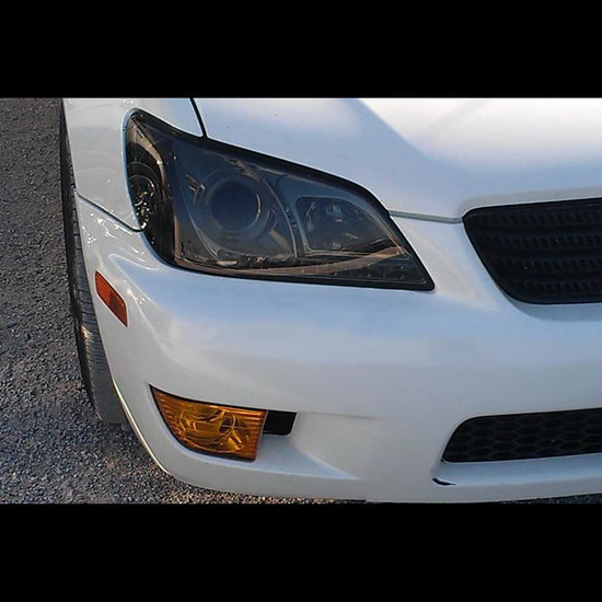2001-2005 Lexus IS300 Smoke Housing LED Halo Angel Eyes Projector Headlights with LED DRL