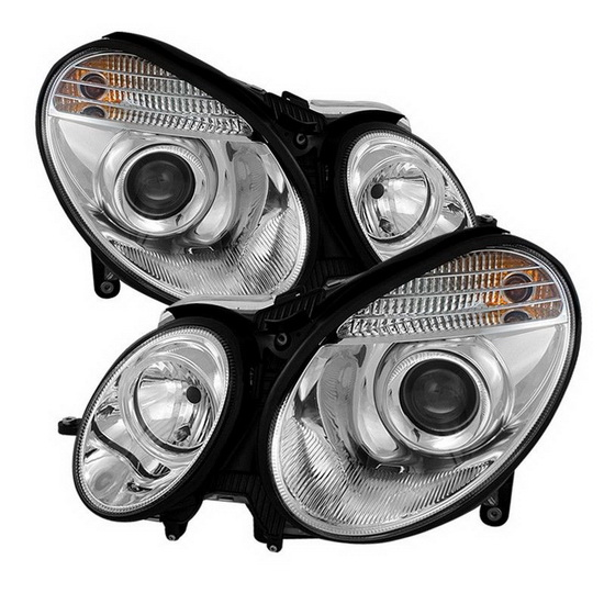 2003-2006 Mercedes Benz E-Class Chrome Housing Projector Headlights