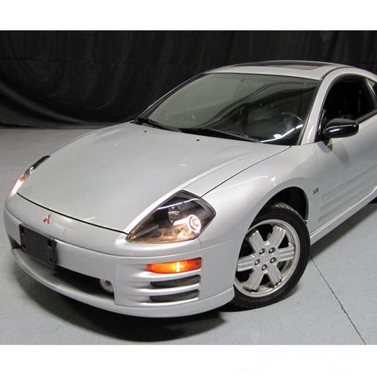 2000-2005 Mitsubishi Eclipse Black Housing LED Halo Angel Eyes Projector Headlights