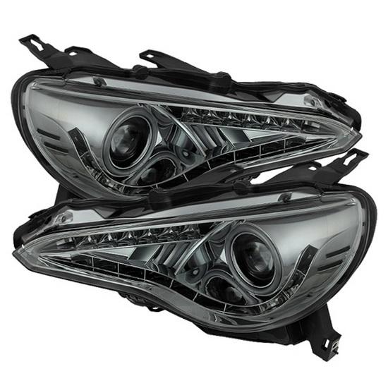 13-14 Scion FR-S Smoke Housing LED Halo Ring Angel Eyes LED DRL Projector Headlights