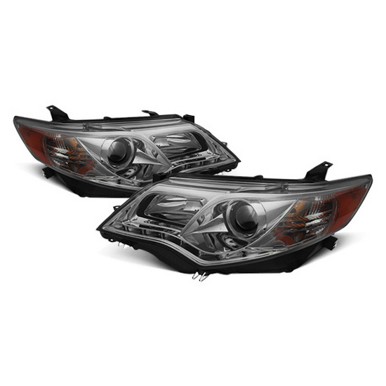 2012-2013 Toyota Camry Smoke Housing Projector Headlights with LED DRL