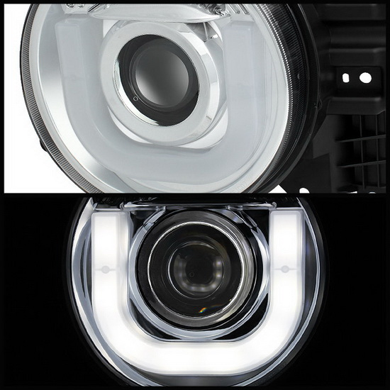 2007-2013 Toyota FJ Cruiser Chrome Housing Projector Headlights with 3D LED DRL