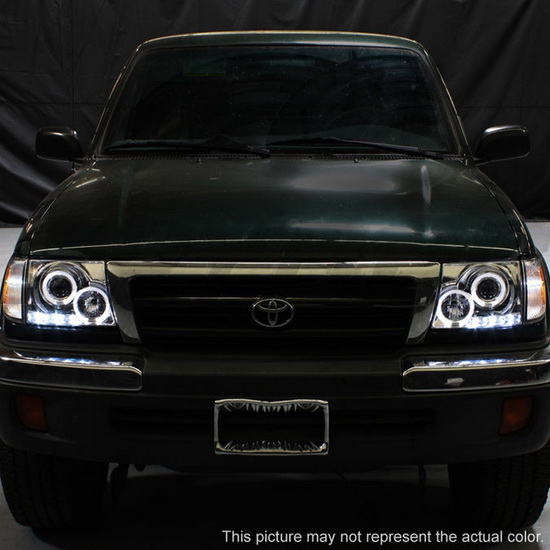 1997 00 Toyota Tacoma Black Led Halo Projector Headlights