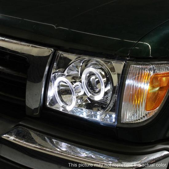 1997 00 Toyota Tacoma Black Led Halo Projector Headlights