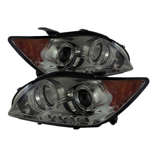 2008-2010 Scion TC Smoke Housing LED Halo Angel Eyes LED Projector Headlights