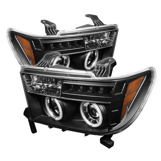 2007-2013 Toyota Tundra Sequoia Black Housing CCFL Halo Angel Eyes LED Projector Headlights