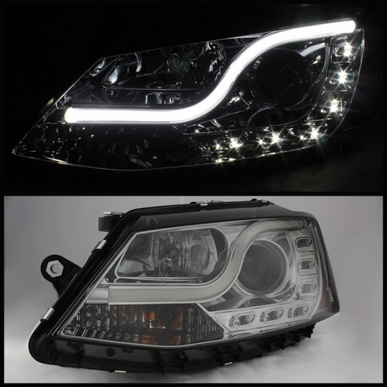 2011-2013 Volkswagen Jetta Smoke Housing Projector Headlights