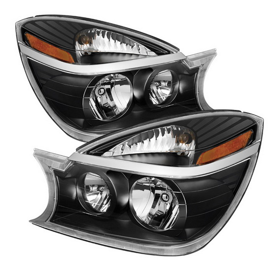 2004-2005 Buick Rendezvous LED Halo Angel Eyes Black Housing Crystal Headlights