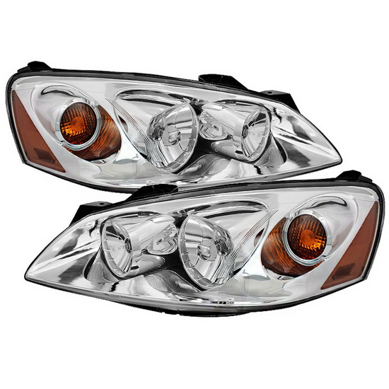 2005-2010 Pontiac G6 LED Halo Angel Eyes Chrome Housing Crystal Headlights