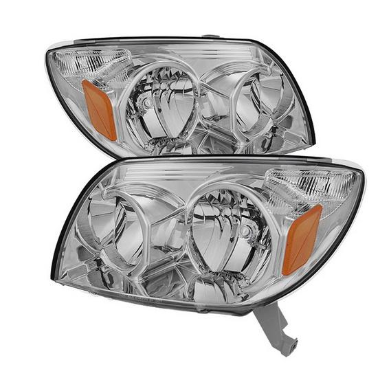 2003-2005 Toyota 4Runner LED Halo Angel Eyes Smoke Housing Crystal Headlights