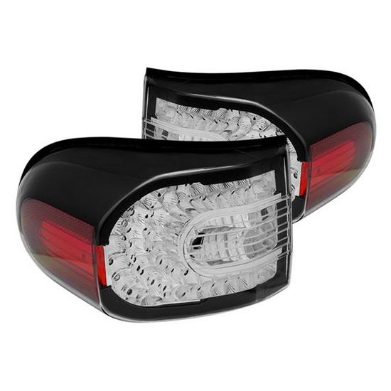 07-14 Toyota FJ Cruiser Black Housing LED Tail Lights