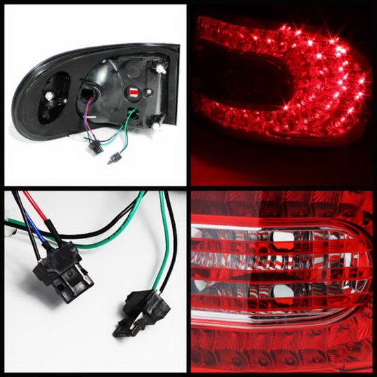 07-14 Toyota FJ Cruiser Red Clear Housing LED Tail Lights