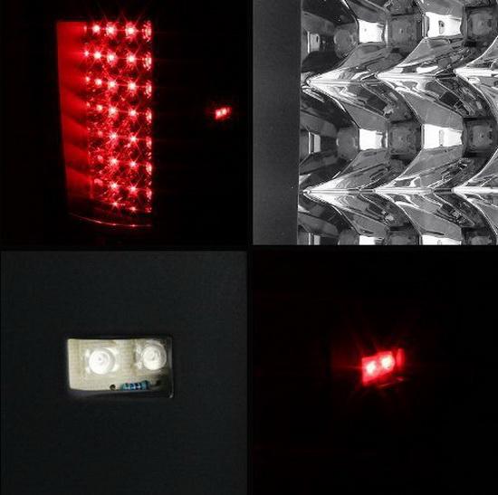 07-13 Chevy Silverado Black Housing LED Tail Lights
