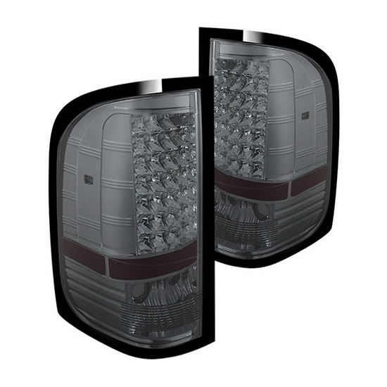 07-14 Chevy Silverado Smoke Housing LED Tail Lights