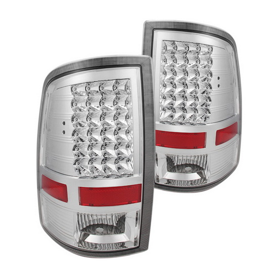 09-14 Dodge Ram 1500 Chrome Housing LED Tail Lights