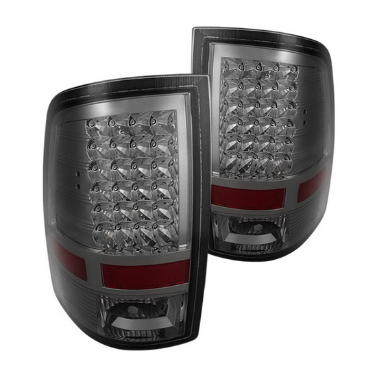 09-14 Dodge Ram 1500 Smoke Housing LED Tail Lights