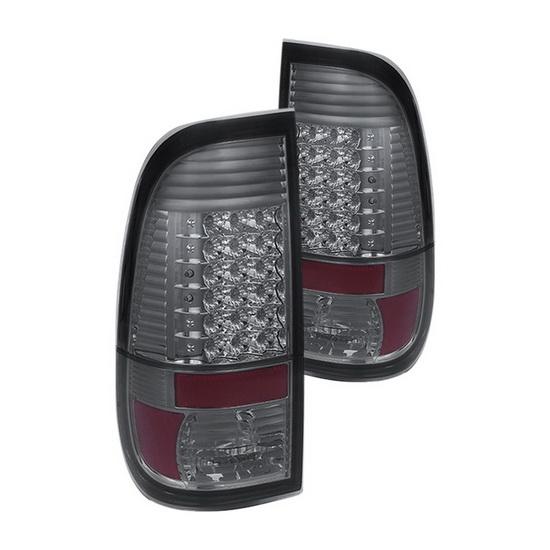 08-15 Ford Super Duty Smoke Housing LED Tail Lights