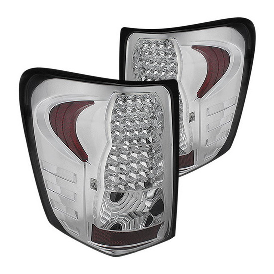 99-04 Jeep Grand Cherokee Chrome Housing LED Tail Lights