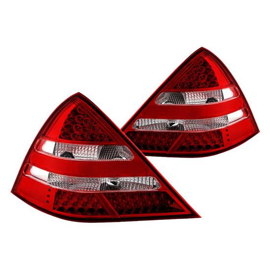 98-04 Mercedes R170 SLK Red Clear Housing LED Tail Lights