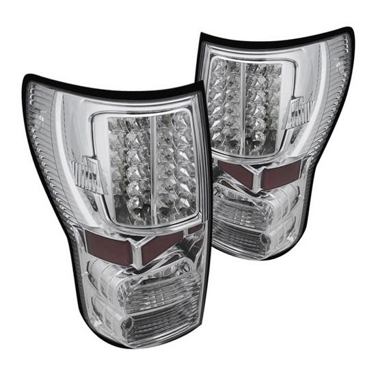07-13 Toyota Tundra Chrome Housing LED Tail Lights