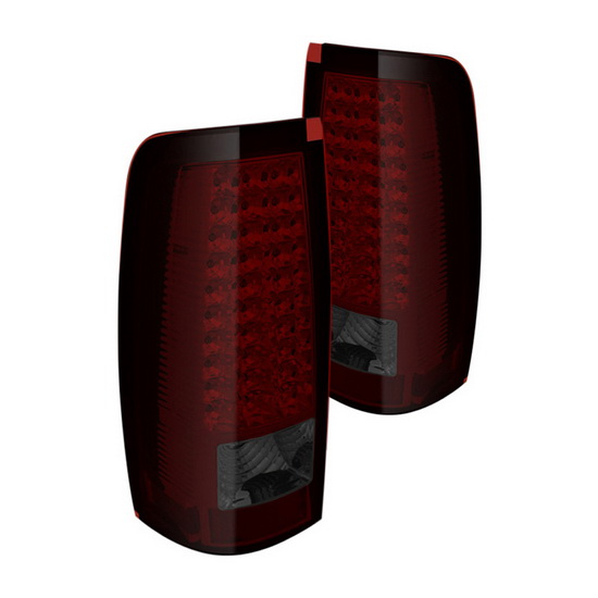 03-06 Chevy Silverado 1500 2500 3500 Red Smoke Housing LED Tail Lights