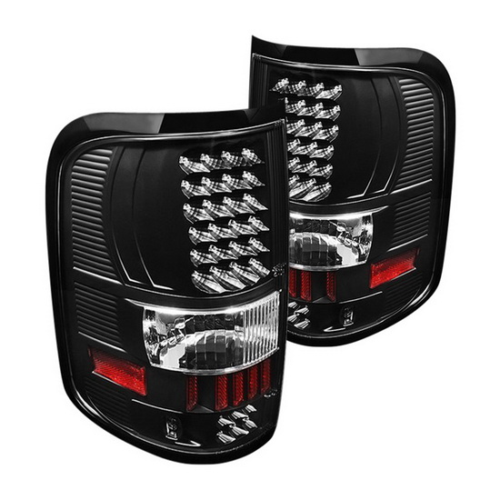 04-08 Ford F150 Styleside Black Housing LED Tail Lights