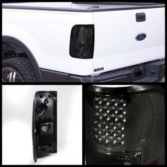 04-08 Ford F150 Styleside Smoke Housing LED Tail Lights