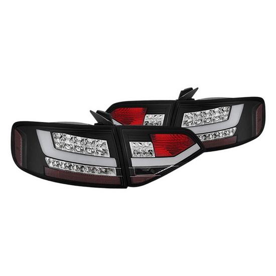 09-12 Audi A4 4Dr Black Housing LED Tail Lights