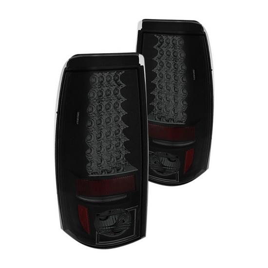03-06 Chevy Silverado 1500 2500 Black Smoke Housing LED Tail Lights