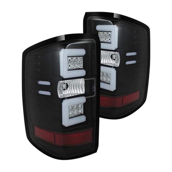 14-15 Chevy Silverado Black Housing LED Tail Lights