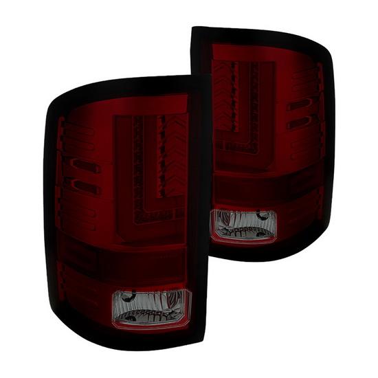 14-15 GMC Sierra Red Smoke Housing LED Tail Lights