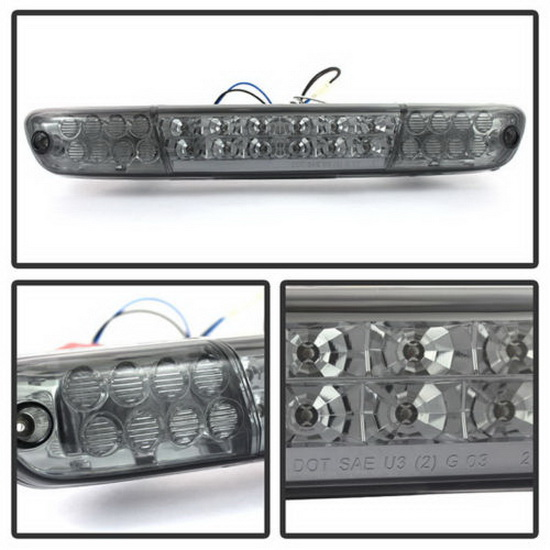 04-13 Chevy Colorado Chrome Lens LED 3rd Brake Light Assembly