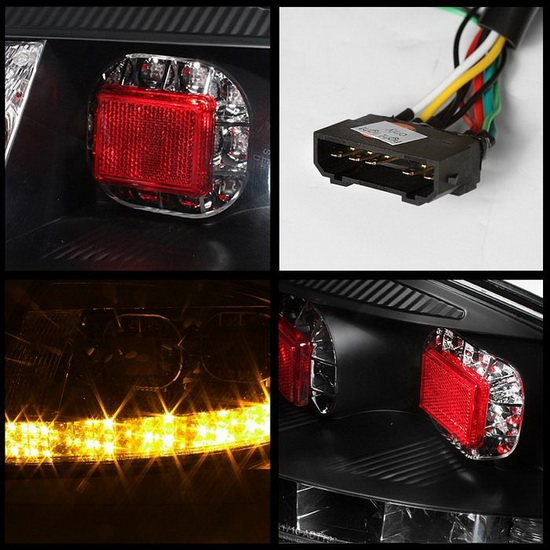 2000-2006 Audi TT Black Housing LED Tail Lights