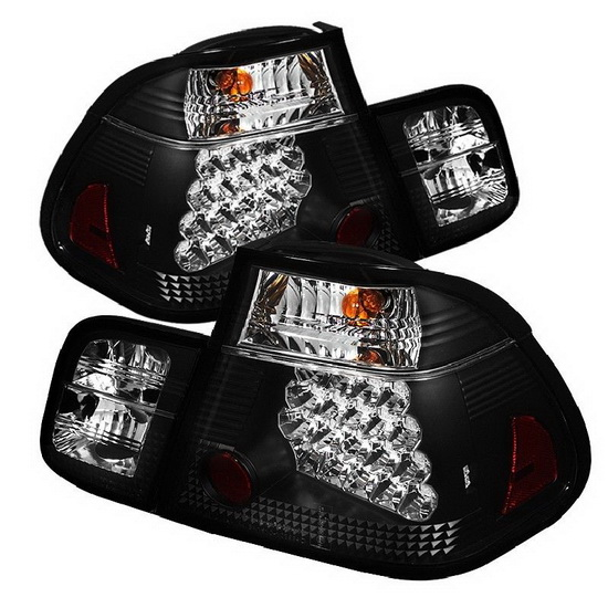 2002-2005 BMW E46 3-Series Sedan Black Housing LED Tail Lights