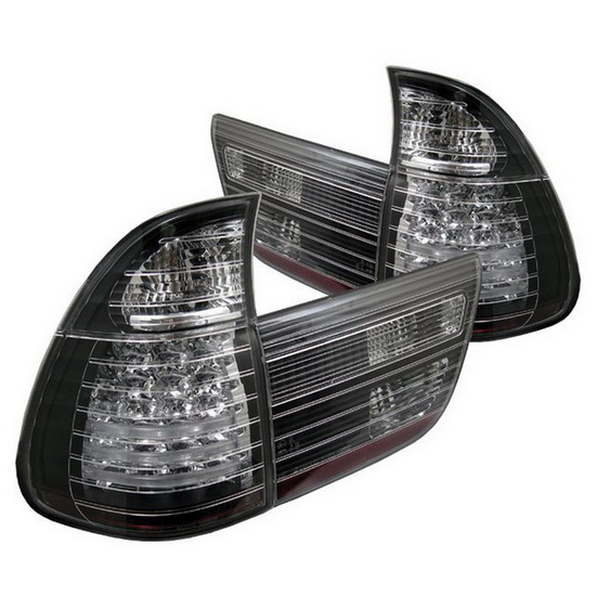 2000-2006 BMW E53 X5 4PCS Black Housing LED Tail Lights