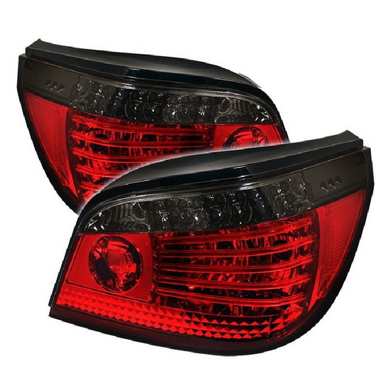 2004-2007 BMW E60 5-Series Red Smoke Housing LED Tail Lights