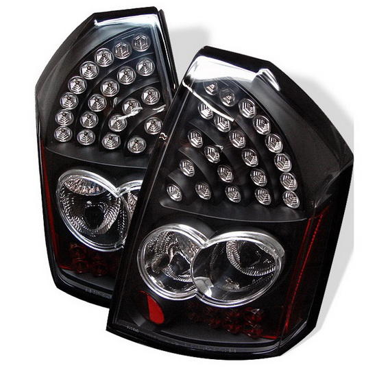2005-2007 Chrysler 300C Black Housing LED Tail Lights