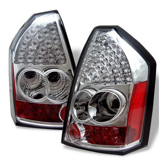 2005-2007 Chrysler 300C Chrome Housing LED Tail Lights