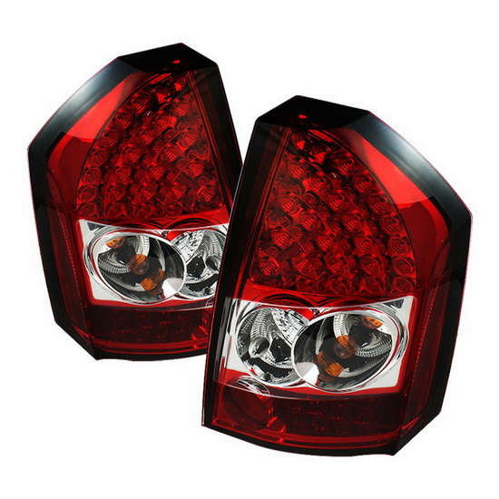 2008-2010 Chrysler 300C Red Clear Housing LED Tail Lights