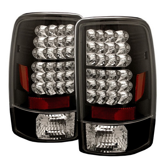 2000-2006 Chevy Suburban Tahoe 1500 2500 Black Housing LED Tail Lights