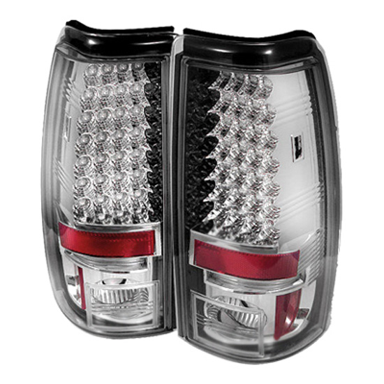2003-2006 Chevy Silverado 1500 2500 Chrome Housing LED Tail Lights