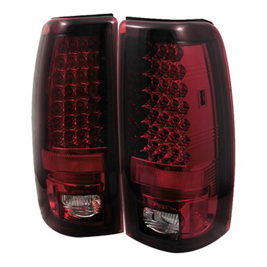 2003-2006 Chevy Silverado 1500 2500 Red Clear Housing LED Tail Lights