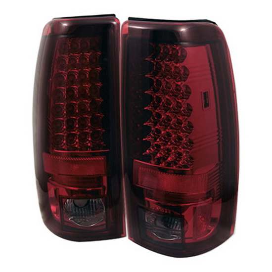 2003-2006 Chevy Silverado 1500 2500 Red Smoke Housing LED Tail Lights