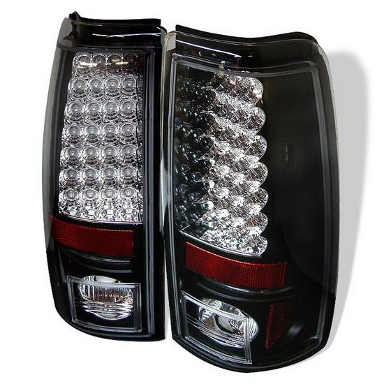 1999-2002 Chevy Silverado 1500 2500 Black Housing LED Tail Lights