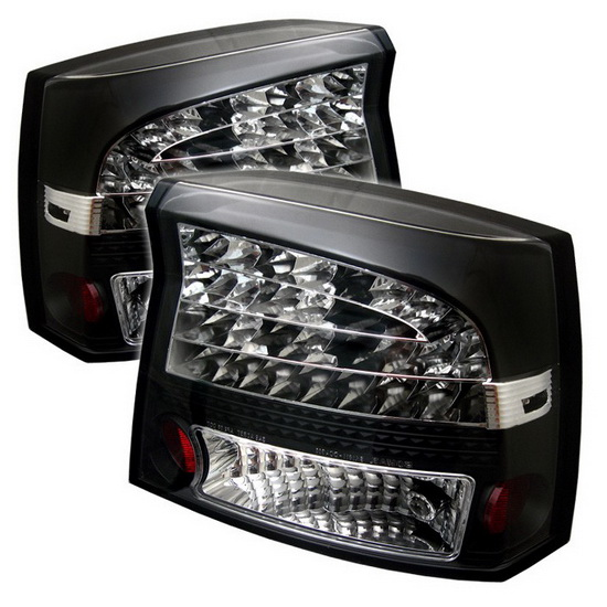 2006-2008 Dodge Charger Black Housing LED Tail Lights
